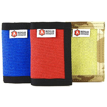Recycled Firefighter The Fire Hose Rookie Front Pocket BiFold Wallet
