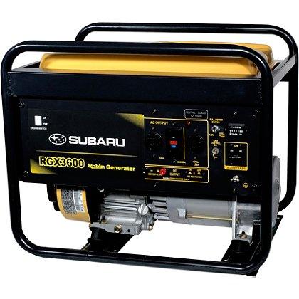 Subaru RGX3600 Industrial Generator, Recoil Start, 120/240V, 12V DC Charger, 8.4 Hour Run Time