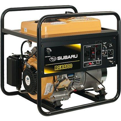 Subaru RGX4800 Industrial Generator, Electric Start w/ Recoil Backup, 120/240V, 12V DC Charger, 6 Hour Run Time