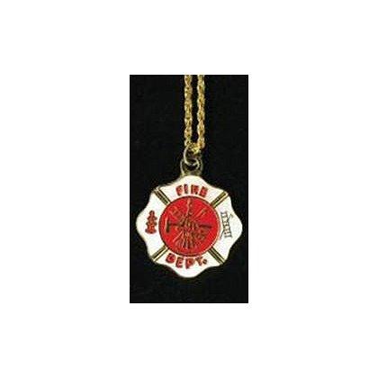 Fire Department Maltese Cross Necklace