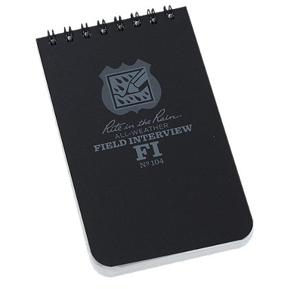 how to start a police notebook