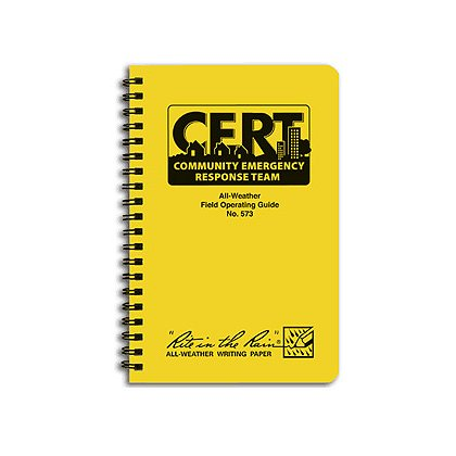 "Rite in the Rain CERT All-Weather Field Operating Guide, 4-5/8"" x 7"" Spiral Bound"