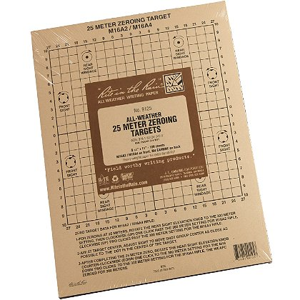 "Rite in the Rain 25 Meter Zeroing Targets 8 ½"" x 11"", Pack of 100"