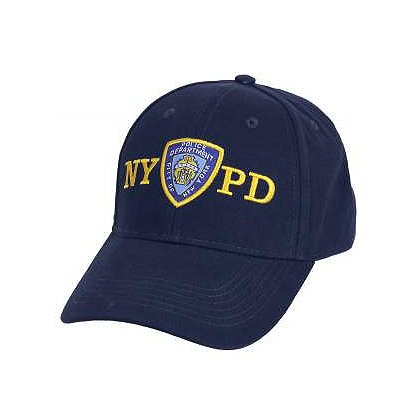 Rothco Supreme Embroidered Low Profile Baseball Cap, w/ Officially Licensed NYPD Logo