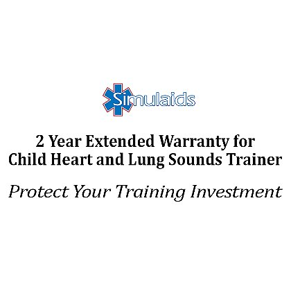 Simulaids Extended Warranty for Child Heart and Lung Sounds Trainer