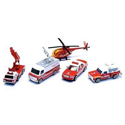 5 Piece Fire Department Vehicle Set