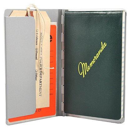 Saunders Aluminum Padfolio w/ Writing Pad, Pocket Size, 3.75 x 5.5