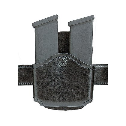 Safariland Model 572 Magazine Pouch, Double, Paddle, Plain Finish, Black