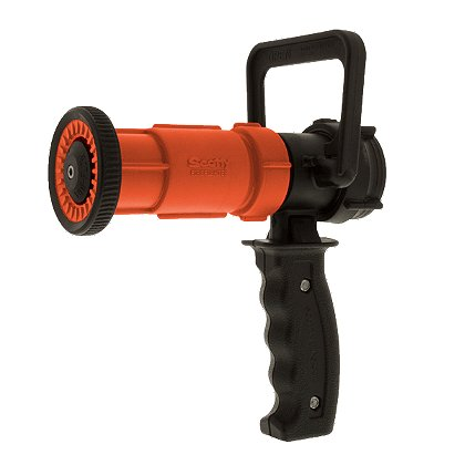 Scotty Fog/Straight Stream Nozzle with D-Handle Pistol Grip, Orange