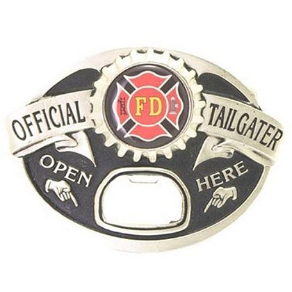 Official Tailgater Firefighter Belt Buckle