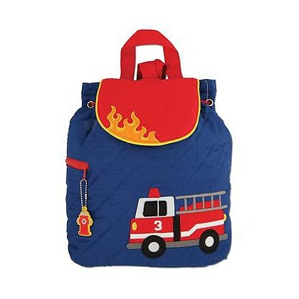 Stephen Joseph Quilted Fire Truck Backpack