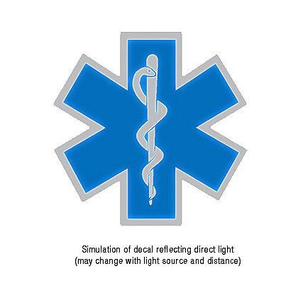 theEMSstore Exclusive Reflective Helmet Star of Life Decal