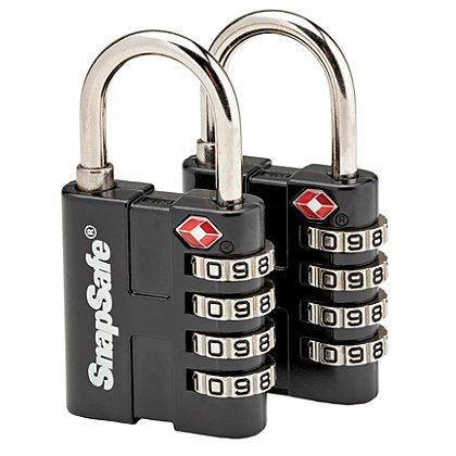 SnapSafe TSA Padlocks, 2 Pack
