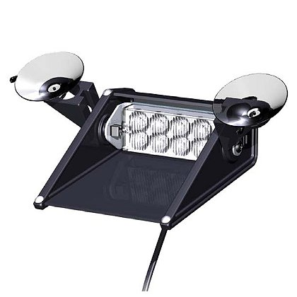 SoundOff Signal Pilot Windshield Light, Suction Cup Mount Single Light