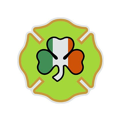 Exclusive Maltese Cross with Irish Shamrock