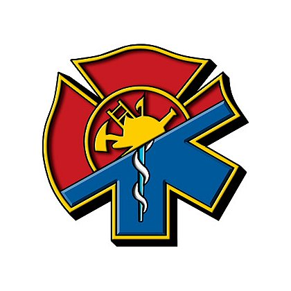Exclusive Maltese Cross-Star of Life Hybrid Decal