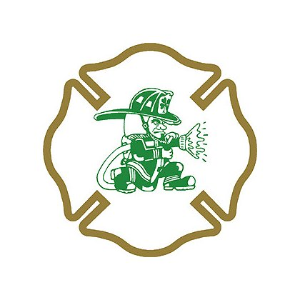 Decal Maltese Cross with Fighting Irish