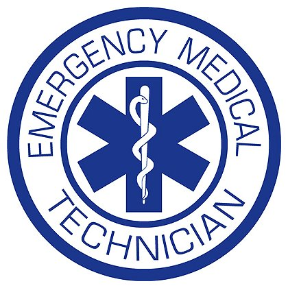 Decal Emergency Medical Technician Round Reflective Helmet Decal