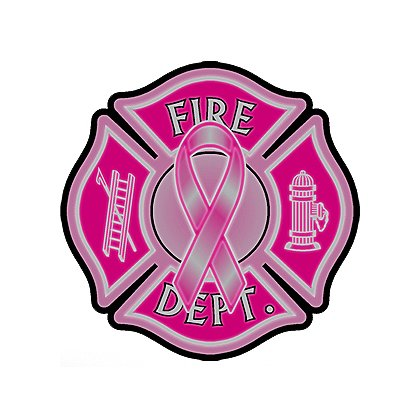 TheFireStore Exclusive Reflective Maltese Cross w/ Pink Breast Cancer Awareness Ribbon