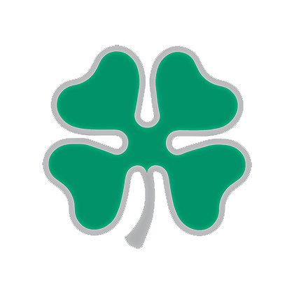 TheFireStore Exclusive Reflective 4 Leaf Clover