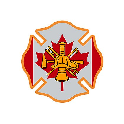 Reflective Maltese Cross & Canadian Flag w/ Firefighter Scramble