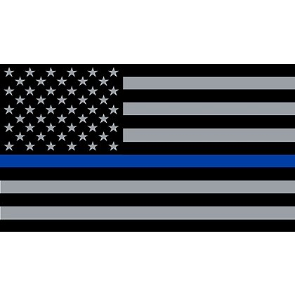 Exclusive Thin Blue Line American Flag Reflective Decal