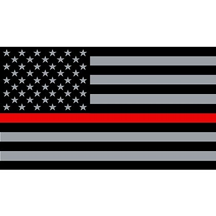Exclusive Support Red Line American Flag
