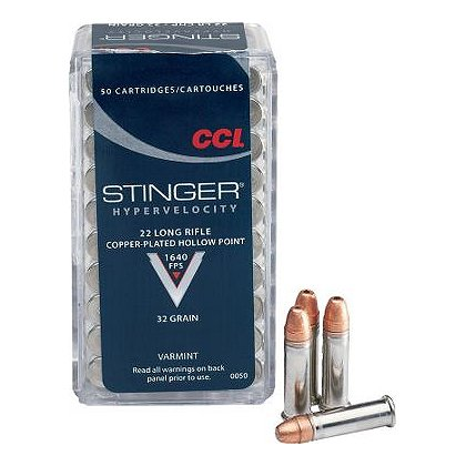 CCI Stinger .22LR, 32 grain, Case of 5000