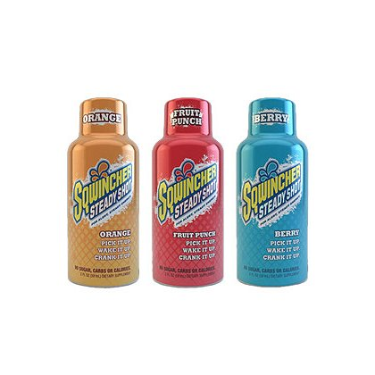 Sqwincher Steady Shot, 2 oz, Pack of 12, Orange