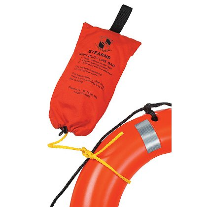 Stearns I023 Ring Buoy Rope with Orange Bag, 90 ft