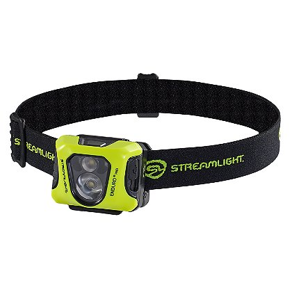 Streamlight Enduro Pro USB Headlamp with USB Cord, Elastic Headstrap, Rubber Hard Hat Strap, and 3M® Dual Lock®