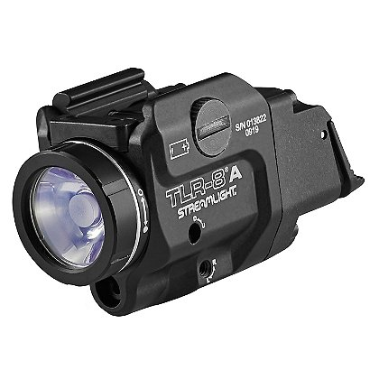 Streamlight TLR-8AL Compact Rail Mounted Low Switch Tactical Light with Red Laser Sight
