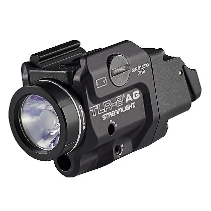 Streamlight TLR-8AGH Low Profile Rail Mounted High Switch Tactical Light with Green Laser