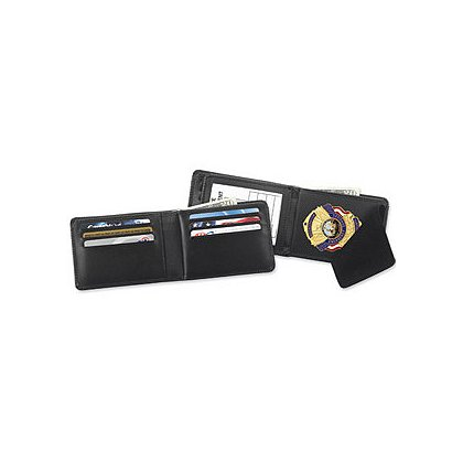 Strong Traditional Hidden Badge Credit Card Leather Wallet