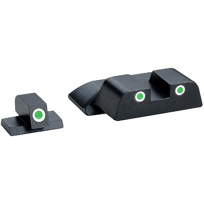 AmeriGlo Tritium Night Sights for Smith & Wesson Shield, Green Front / Green Rear