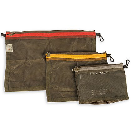 Tasmanian Tiger Set of 3 Olive Mesh Pockets