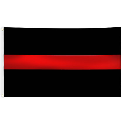 Thin Red Line Black Flag