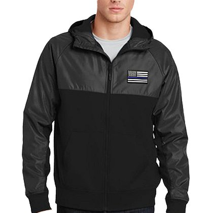 Thin Blue Line USA Embroidered TBL Flag Coat