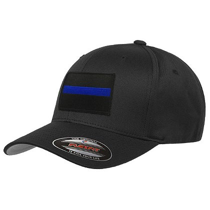 Thin Blue Line USA FlexFit Hat with Thin Blue Line Patch