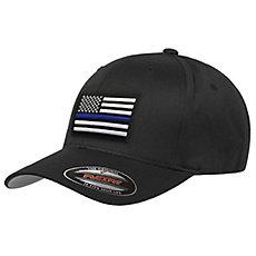 Thin Blue Line USA FlexFit Hat 49970d8c468c
