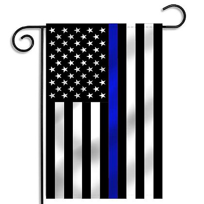 Thin Blue Line USA Thin Blue Line American Garden Flag, 12.5
