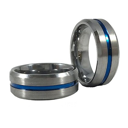 Thin Blue Line Men's Ring