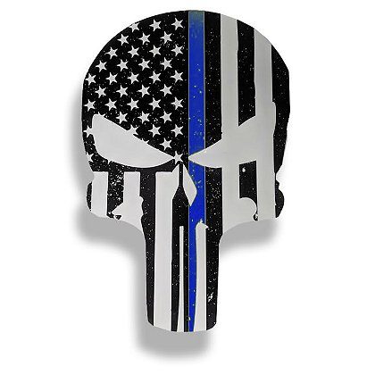 Thin Blue Line USA Punisher Decal, 4
