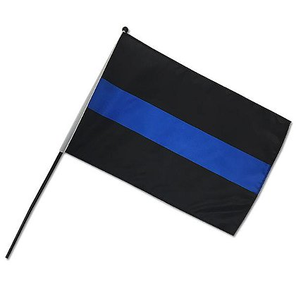 Thin Blue Line Stick Flag 12