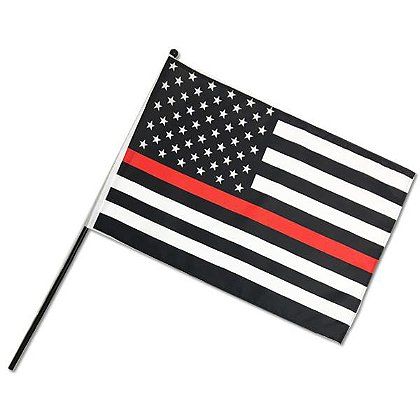 Thin Red Line Stick Flag, 12