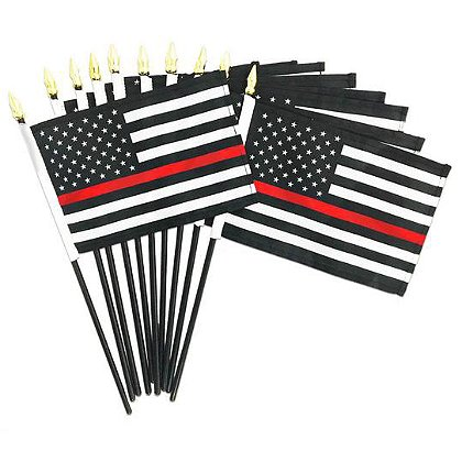 Thin Red Line American Flag Stick Flag