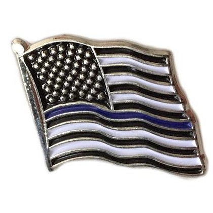 Thin Blue Line USA Thin Blue Line American Flag Pin