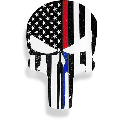 Thin Blue Line USA Dual Lines Punisher Decal, 4