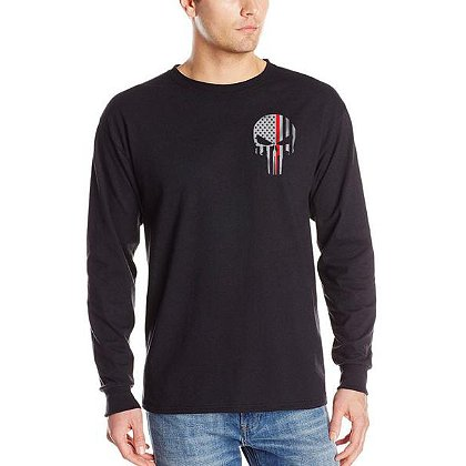 Thin Red Line Long-Sleeve Skull T-Shirt