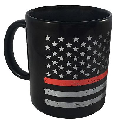 Thin Red Line American Flag Mug